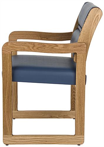 Blue Reception Room Chair, Easy Assembly