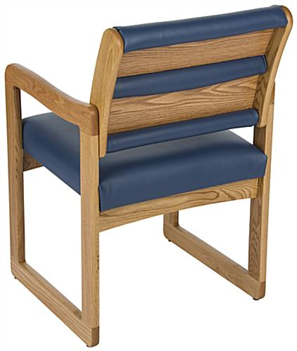 "Blue Reception Room Chair, 23.25"" Overall Depth"