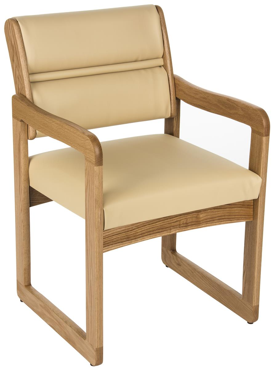 Cream Reception Room Chair Oak Wood Construction