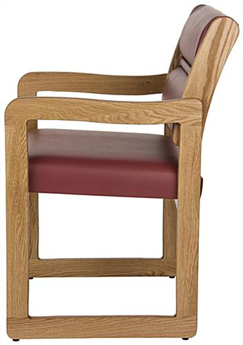 """Wine"" Wooden Lobby Chair, 33.5"" Overall Height"