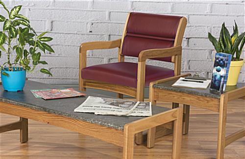 ... Wooden Lobby Chair, Floor Standing