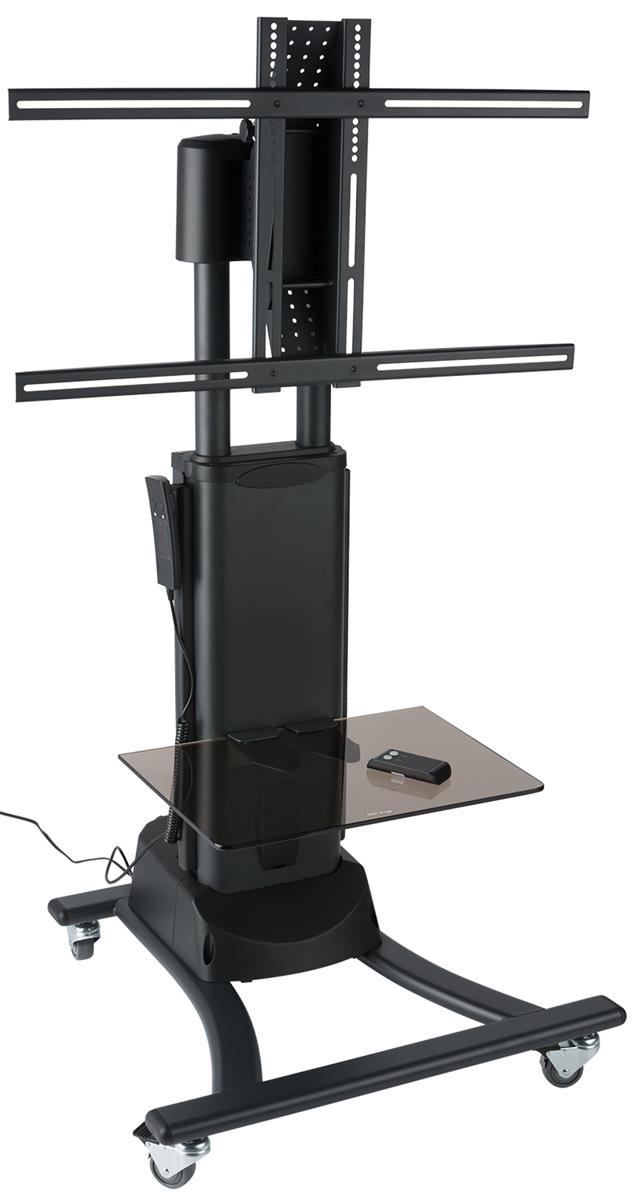 motorized tv stand accommodates 27 to 60 screens. Black Bedroom Furniture Sets. Home Design Ideas
