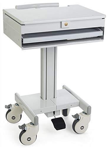 Locking Medical Laptop Cart