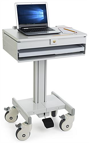 Height Adjustable Medical Laptop Cart