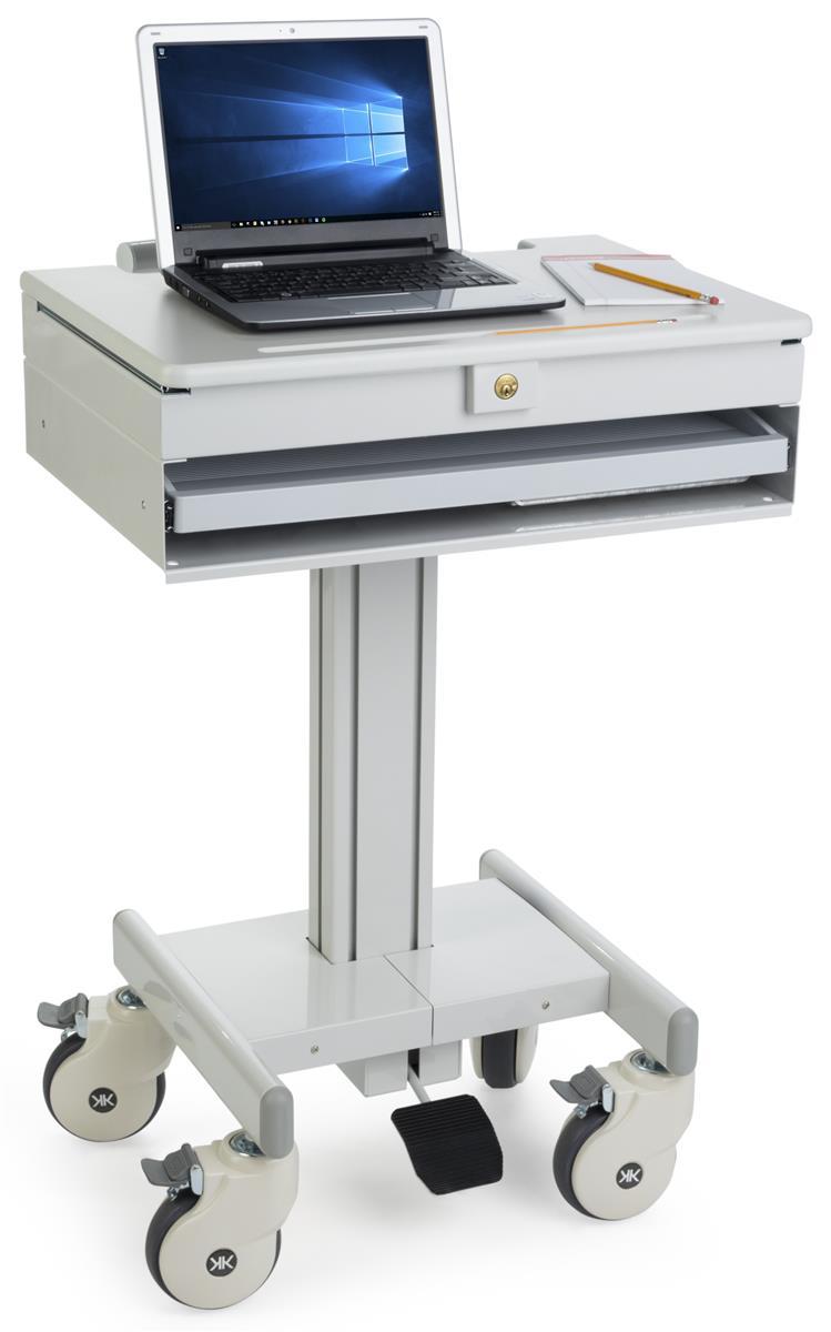 Medical Laptop Cart Locking Drawer