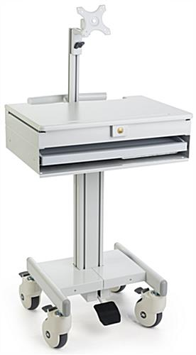 Medical Computer Cart with Single Mount