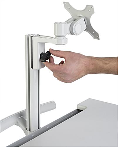 Medical Computer Cart, Height Adjustable Mount