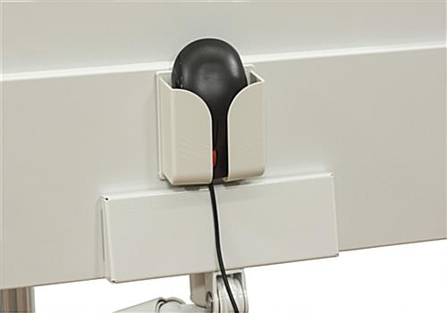 Wall Mounted Computer Workstation, Includes Mouse Holder