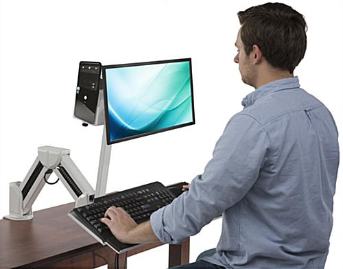Monitor Arm w/ Keyboard Tray for Offices