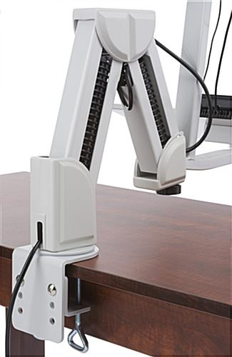 Monitor Arm w/ Keyboard Tray, Mounting Hardware Included