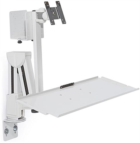 Monitor Arm With Keyboard Tray Desk Or Wall Mount