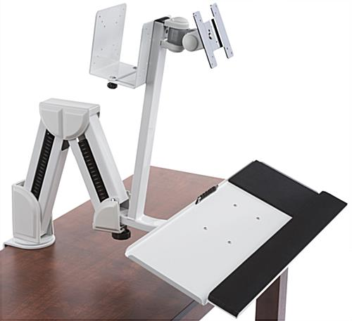 Monitor Arm w/ Keyboard Tray for Desk