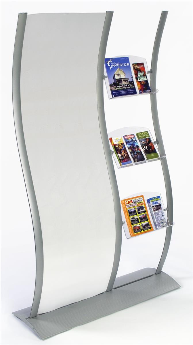 Flyer holders wave sign with clear acrylic for poster for Plastic flyer stand