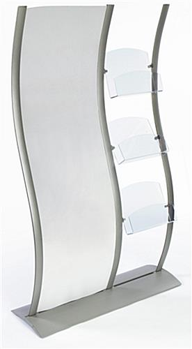 "Floor Magazine Rack w/ 24"" x 77"" Graphic Holder"