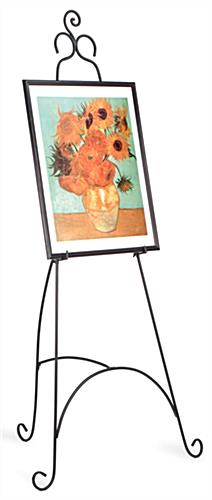 Art Featured on Decorative Metal Display Easel