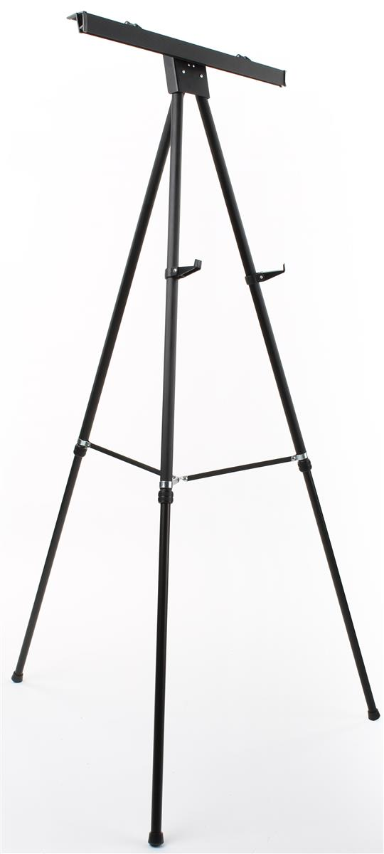 Displays2go Display Easel for Floor with Clamp for Flip C...