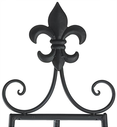 Fleur-de-Lis Topper Adjustable Decorative Easel