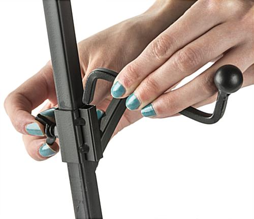 Adjustable Wrought Iron Easel with Removable Hooks