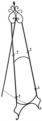 Adjustable Wrought Iron Easel & Decorative Topper
