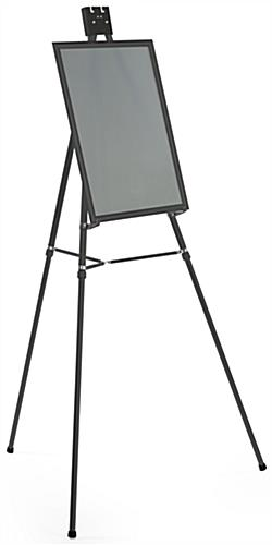 "Black Easel Stand W/ 18"" x 24"" Snap Frame with Rubber Supports"