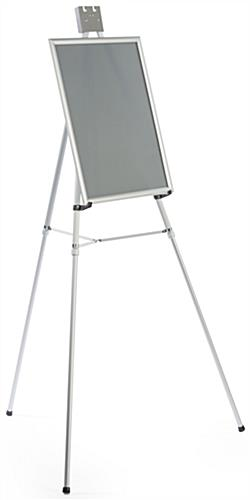 "Silver Easel Stand with 18"" x 24"" Snap Frame, Slim Profile"