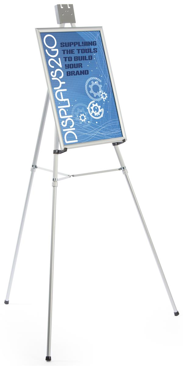 Silver Poster Holder Easels | Tripod Design
