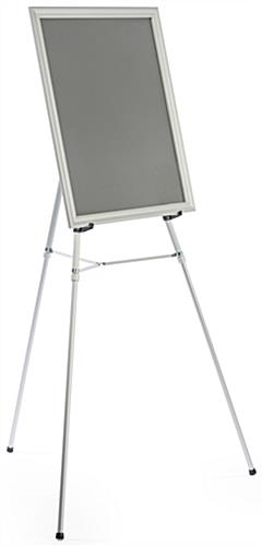 "Silver Easel Stand with 22"" x 28"" Snap Frame with Removeable Bracket"