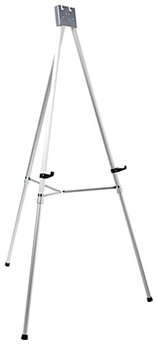 "Silver Easel Stand with 22"" x 28"" Snap Frame with Picture Brackets"