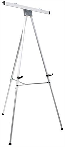 "Silver Easel Stand with 18"" x 24"" Snap Frame, Floorstanding"