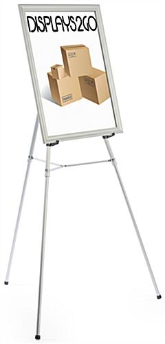 "Silver Easel Stand with 22"" x 28"" Snap Frame , Powder Coated"