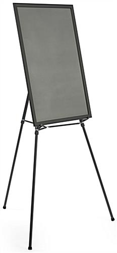"Black Easel Stand with 24"" x 36"" Snap Frame, 74.75"" in Height"