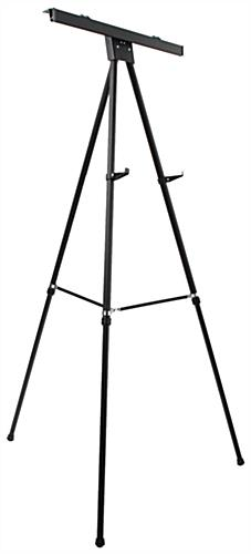 "Black Easel Stand with 24"" x 36"" Snap Frame, Aluminum"