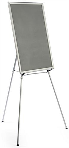 "Silver Easel Stand with 24"" x 36"" Snap Frame with Detachable Backing"