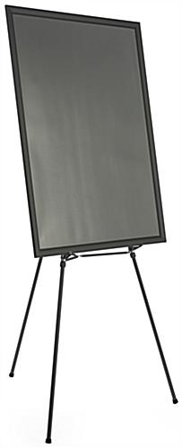 "Black Easel Stand with 36"" x 48"" Snap Frame with Detachable Support"