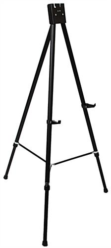 "Black Easel Stand with 36"" x 48"" Snap Frame with 2 Picture Brackets"