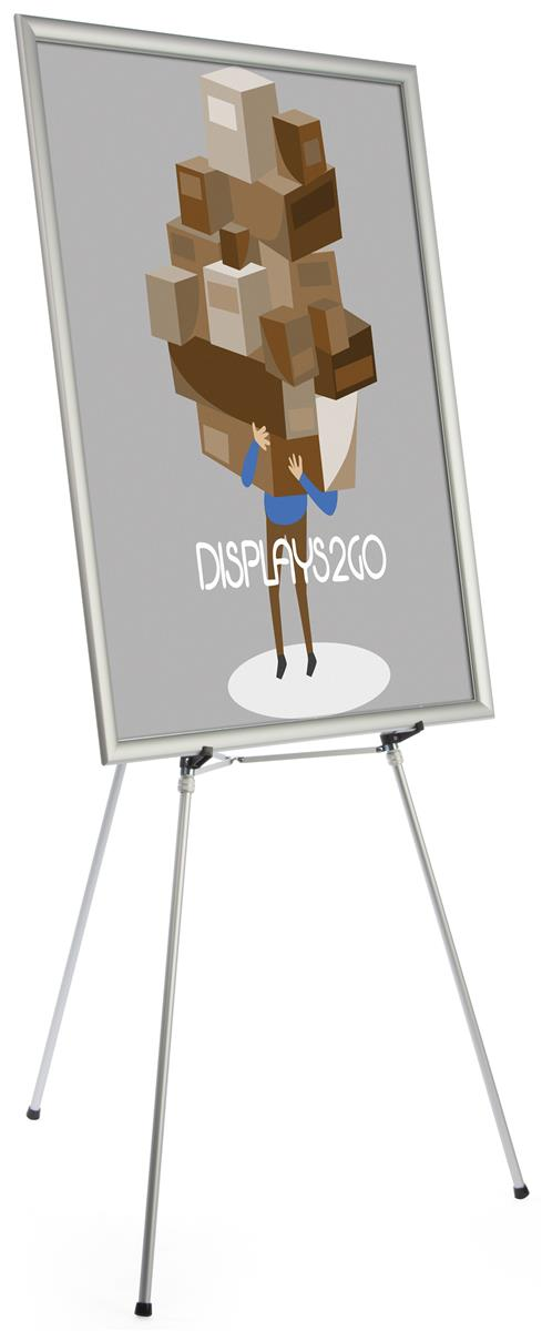 Silver Easel Stand With 36 X 48 Snap Frame