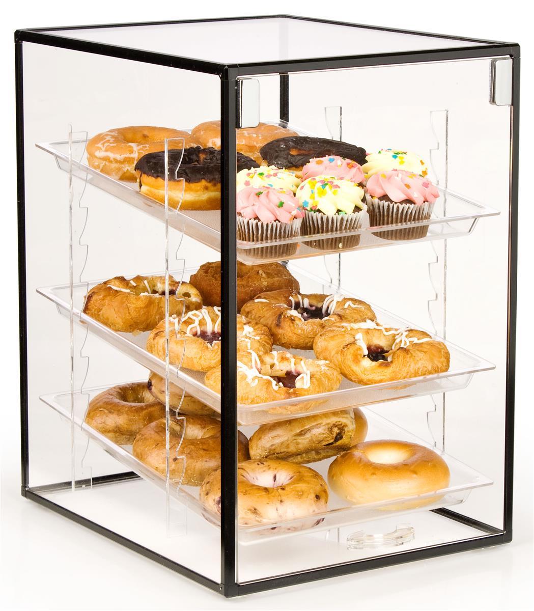 Countertop Bakery Display Cases : Countertop Bakery Display Case Hinged Door Display, Removable Trays