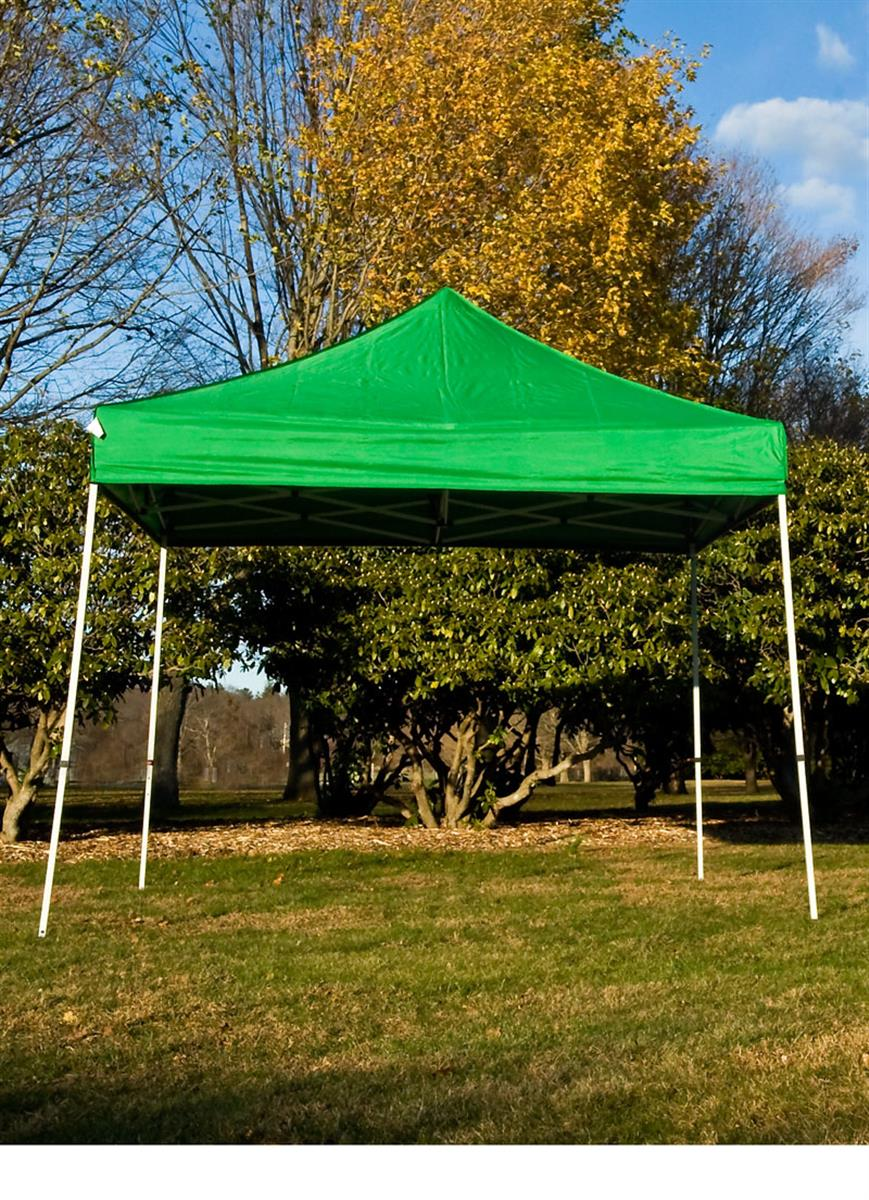 Portable Exhibition Tents : Green tent canopies easy set up outdoor event booths