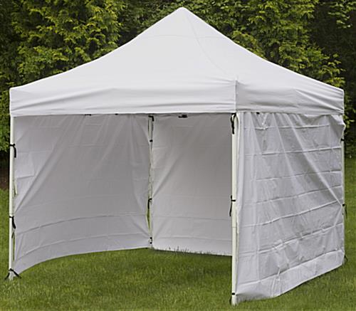 White Portable Canopy 10 Foot Wide Pop Up Design