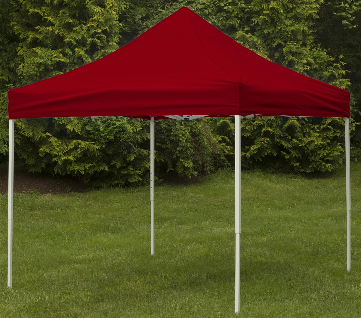10' x 10' Outdoor Canopy Tent, Pop Up, Portable, Square – Red