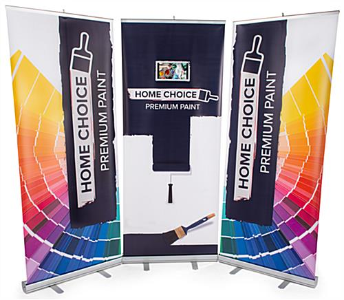 Personalized pull up digital banner screen