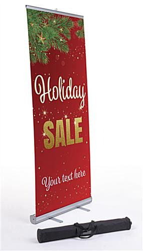 """Holiday Sale"" business banner with aluminum base"