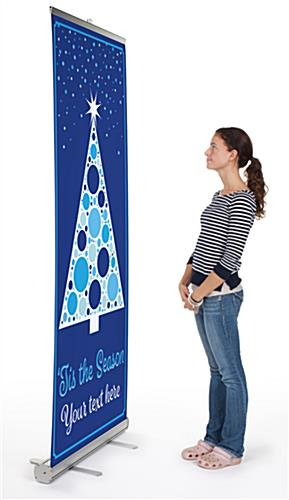 """Tis the Season"" retractable business banner with aluminum base"