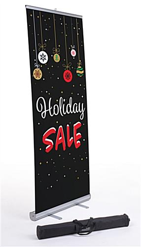"Commercial ""Holiday Sale"" chalkboard banner with festive artwork"