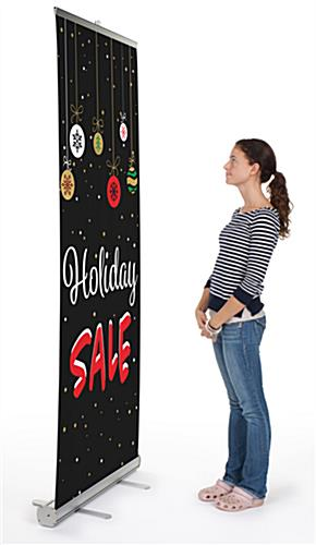 "Commercial ""Holiday Sale"" chalkboard banner with telescoping pole"