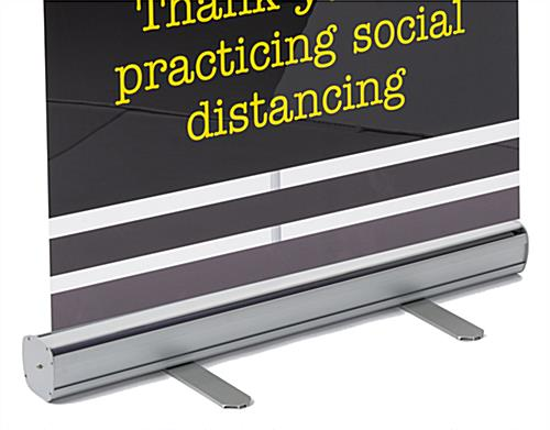 78 inch tall printed social distancing banner on clear film