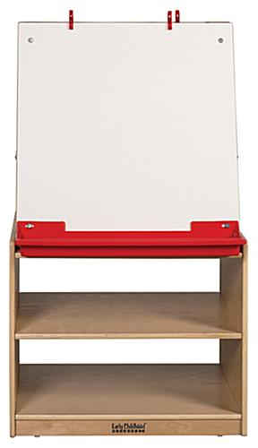 Double Sided Children's Art Easel with Storage & Paper Clips