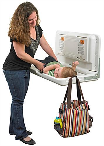 Horizontal Toddler Changing Station Wall Mounted