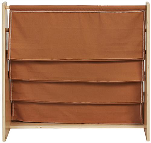 Children S Fabric Book Display Natural Birch Frame