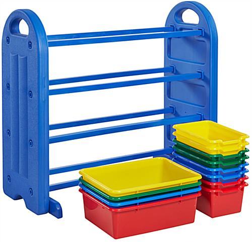 Children S Plastic Storage Organizer 4 Tiered Design